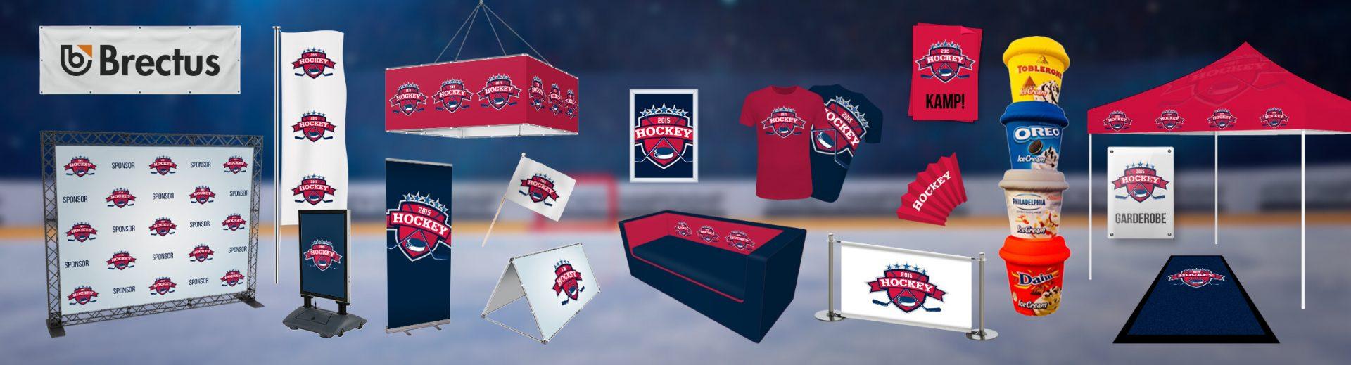 Ishockey Brectus Arena Reklame
