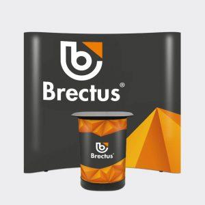 Brectus Messevegg buet med paneler